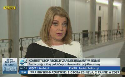 Politycy komentują sprawę projektu zakazującego aborcji w Polsce