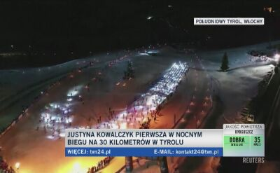 Justyna Kowalczyk wygrała bieg nocny w południowym Tyrolu