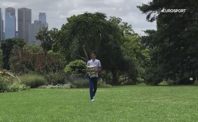 Djokovic dzień po finale AO zwiedzał Melbourne Botanical Garden