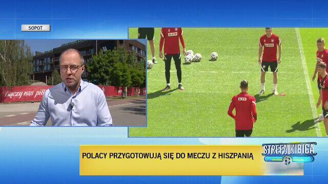 Reporter TVN24 o nastrojach w kadrze przed meczem z Hiszpanią