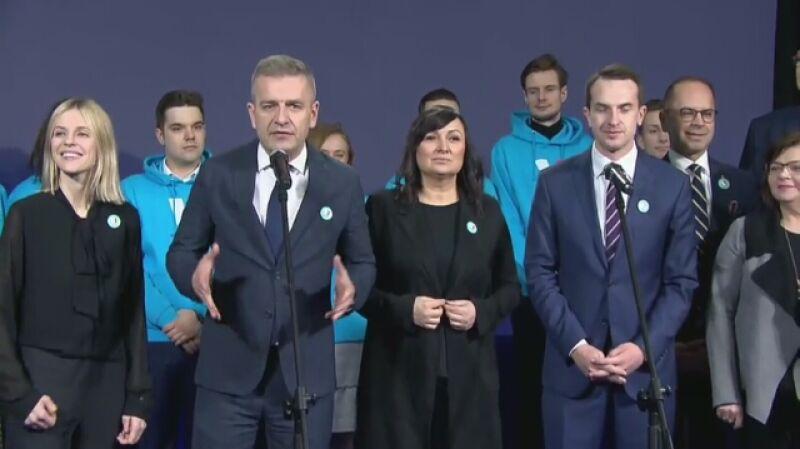 Prezentacja billboardu i hasła kampanii wyborczej Małgorzaty Kidawy-Błońskiej