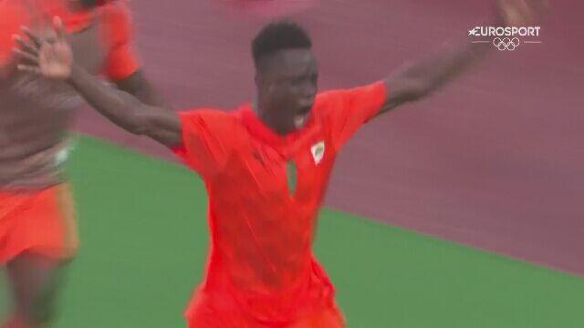 Tokio. Gol na 1:0 dla Wybrzeża Kości Słoniowej w meczu z Niemcami