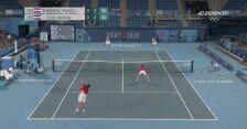 Tokio. Skrót finału tenisowego debla mężczyzn Mektic/Pavic - Cilic/Dodig