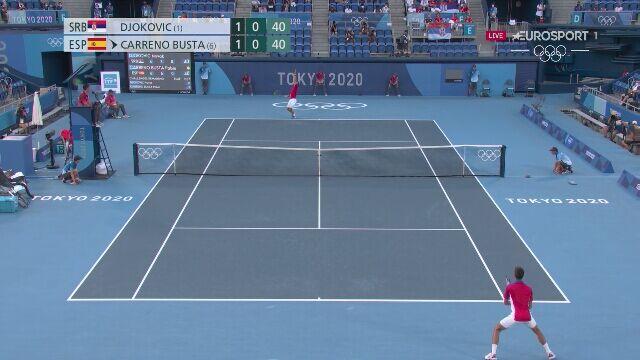 Tokio. Tenis: wściekłość Djokovicia po nieudanym zagraniu w meczu o brązowy medal
