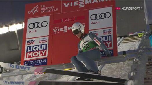 Drugi skok Piotra Żyły z niedzielnego konkursu w Lahti