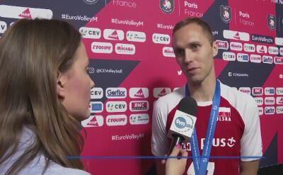 PawełZatorski i Dawid Konarski po meczu z Francją