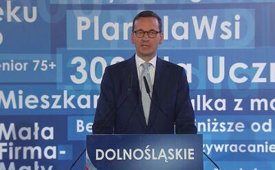 Mateusz Morawiecki na regionalnej konwencji PiS we Wrocławiu