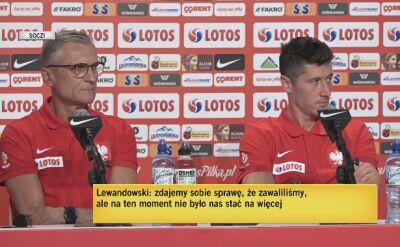 Lewandowski komentuje plotki o podziale w drużynie