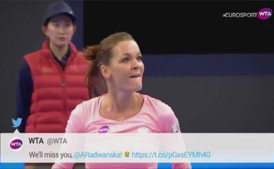WTA podziękowało Radwańskiej