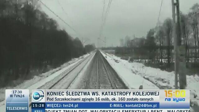 Symulacja katastrofy kolejowej pod Szczekocinami