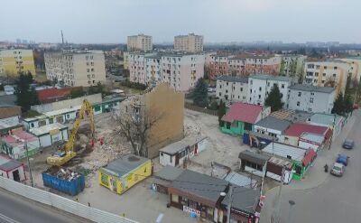Rozbiórka kamienicy na poznańskim Dębcu
