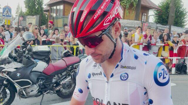 Łukasz Owsian po 4. etapie Tour de Pologne