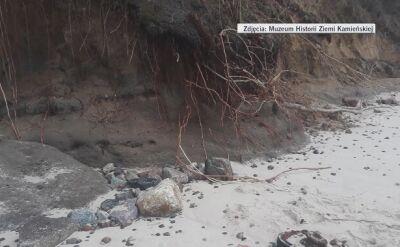 Morze wyrzuciło na brzeg koło niemieckiego czołgu