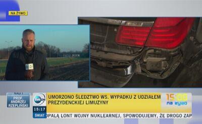 Śledztwo ws. wypadku limuzyny prezydenta umorzone