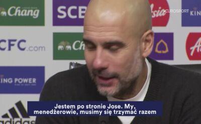 Guardiola murem za Mourinho