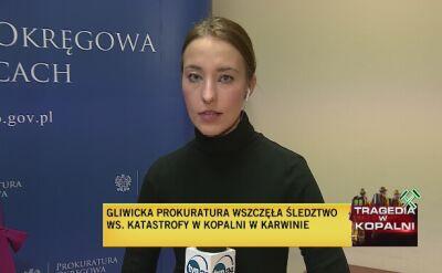 Gliwicka prokuratura wszczęła śledztwo ws. katastrofy w kopalni w Karwinie