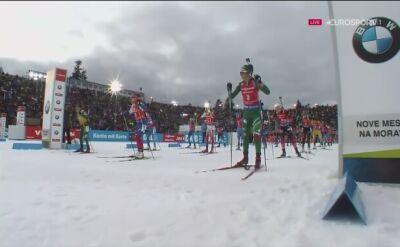 Kuzmina wygrała bieg ze startu wspólnego, Hojnisz dwunasta