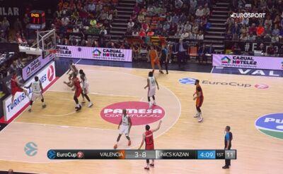 Skrót meczu Valencia - Unics Kazań w półfinale Pucharu Europy