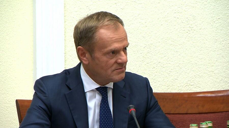 Donald Tusk przed komisją
