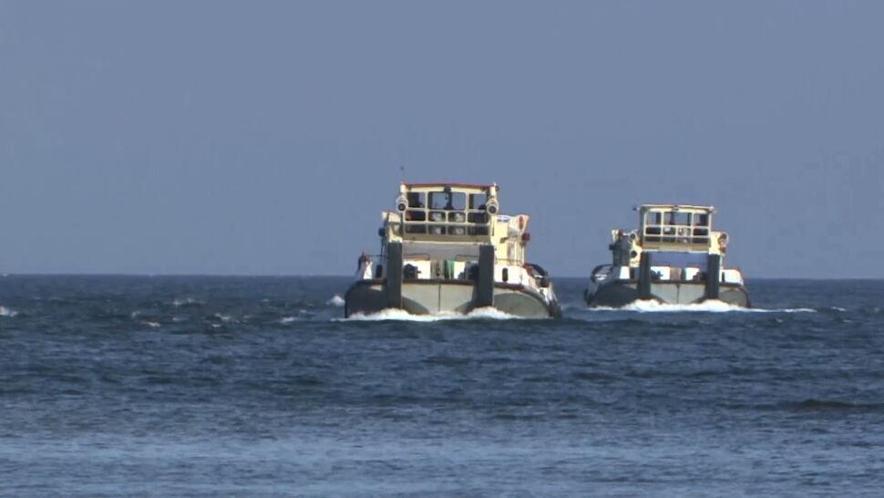 Dwie miny znalezione w morzu niedaleko Gdańska. Wprowadzono zakaz kąpieli