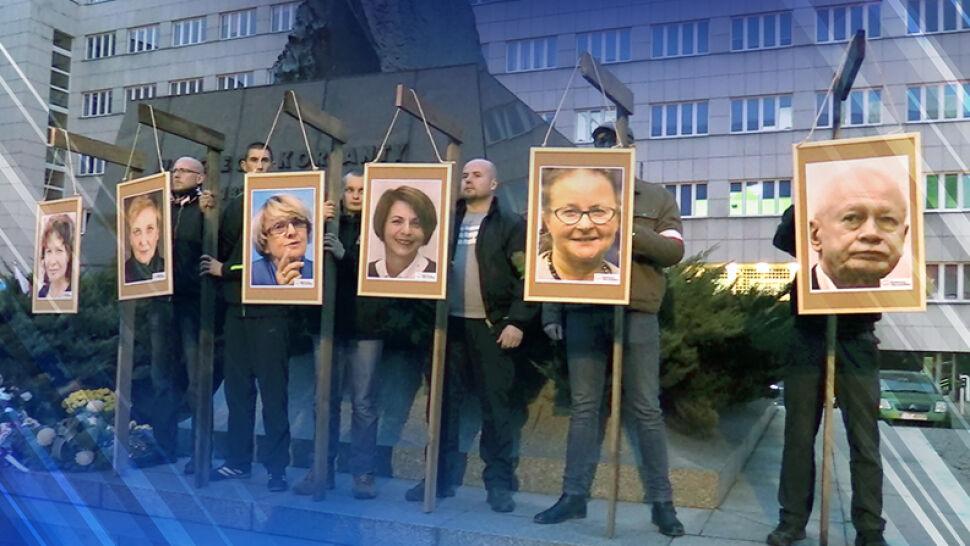 """Zdjęcia europosłów na szubienicach. Śledztwo zostało przedłużone, bo """"były jeszcze groźby"""""""