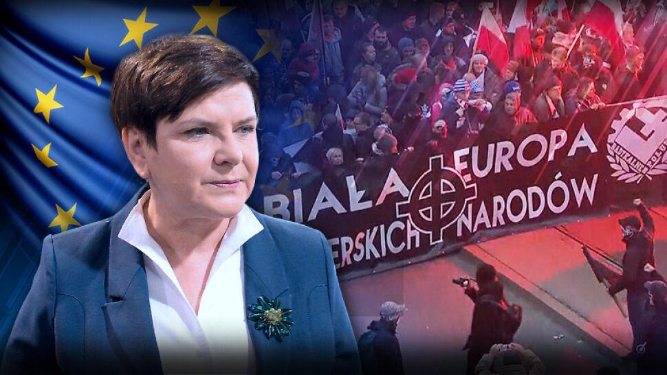 """""""Nieprawdziwa, szkalująca Polskę"""". Premier skrytykowała rezolucję PE, nikt nie skomentował jej słów"""
