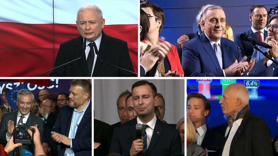Pięć partii w Sejmie, PiS z większością mandatów. Politycy czekają na oficjalne wyniki wyborów
