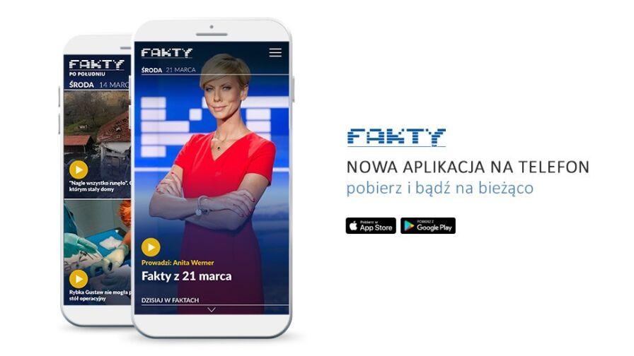 """Nowa odsłona aplikacji mobilnej """"Faktów"""". Pobierz i bądź na bieżąco"""