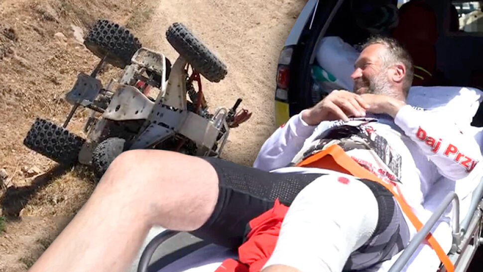 """Ukończył rajd mimo wypadku. """"Z podium prosto do szpitala"""""""