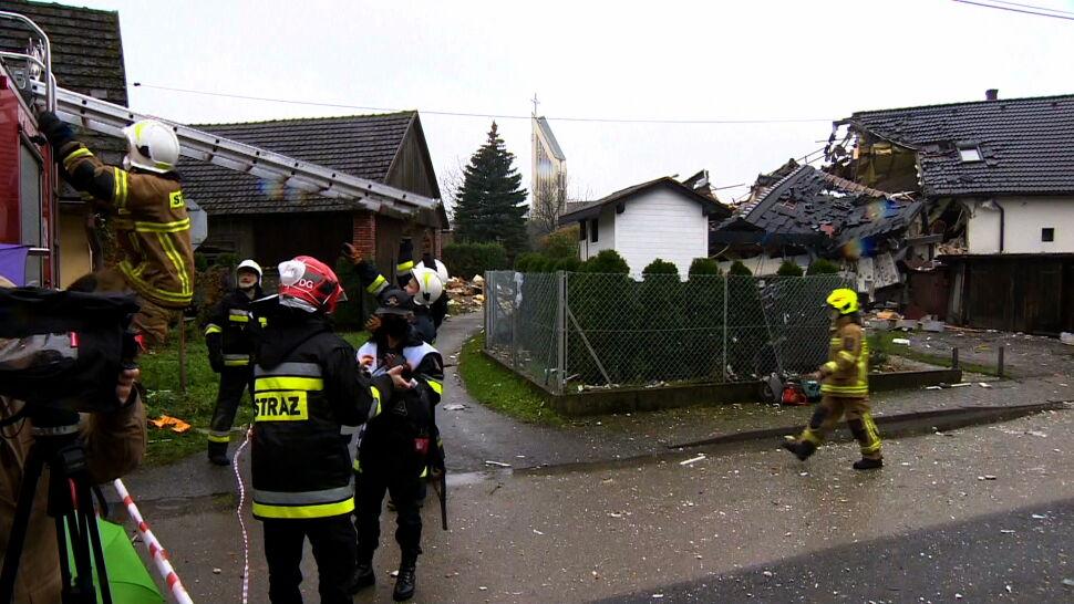 Wybuch w domu w Kobiernicach. Nie żyje 70-latka