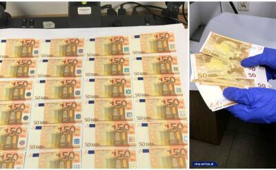 Drukował euro na atramentowej drukarce. Fałszerz zatrzymany w Gdyni