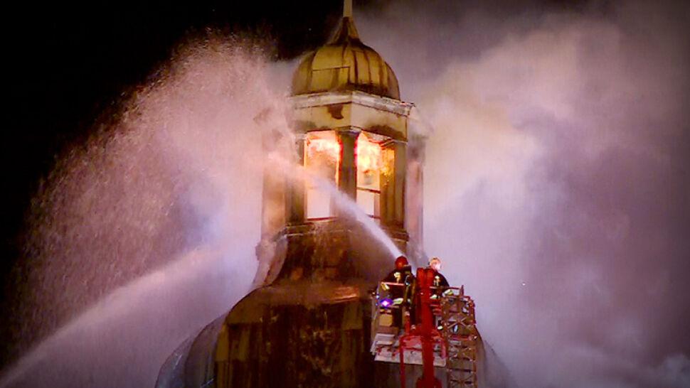 Pożar zamiast rocznicy. Katedra w Gorzowie stanęła w płomieniach