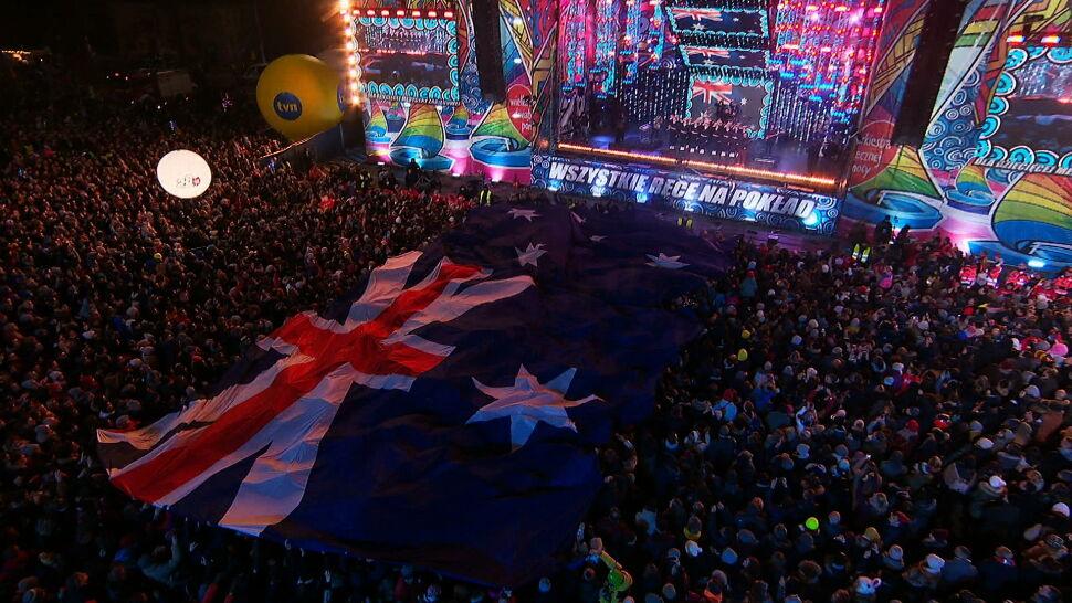 """""""To po prostu niesamowite"""". Australia zachwycona gestem Polaków podczas 28. Finału WOŚP"""
