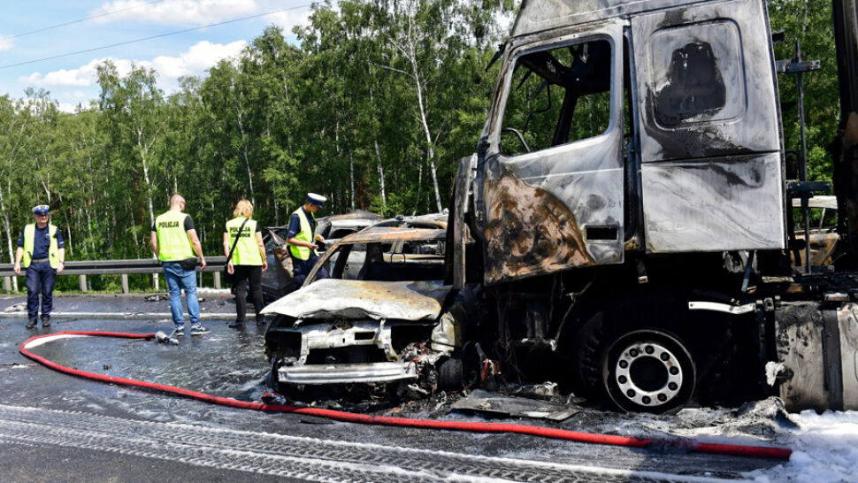 Kierowca podejrzany o spowodowanie karambolu na A6 został aresztowany na 3 miesiące