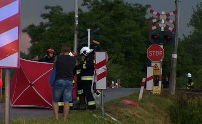 Tragiczny wypadek na przejeździe kolejowym. Zginęło pięć osób
