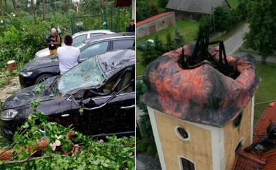 Zawalona iglica, zmiażdżone domy, uszkodzone samochody. Burze wyrządziły duże szkody