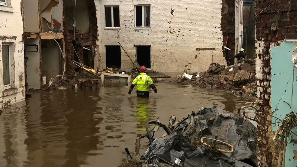 """Dramatyczne obrazy po powodziach w Niemczech. """"To było nasze miasteczko, teraz go nie ma"""""""