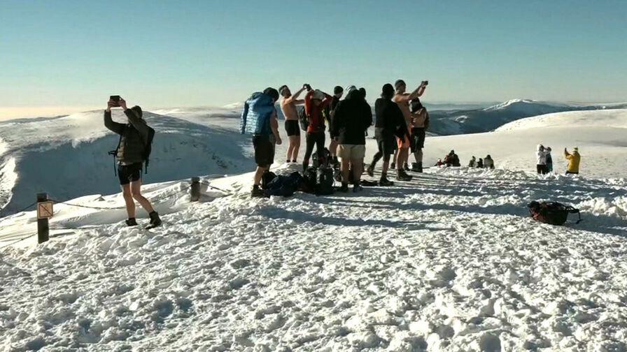 Siedem osób ewakuowanych ze szlaku na Śnieżkę. Byli w krótkich spodenkach