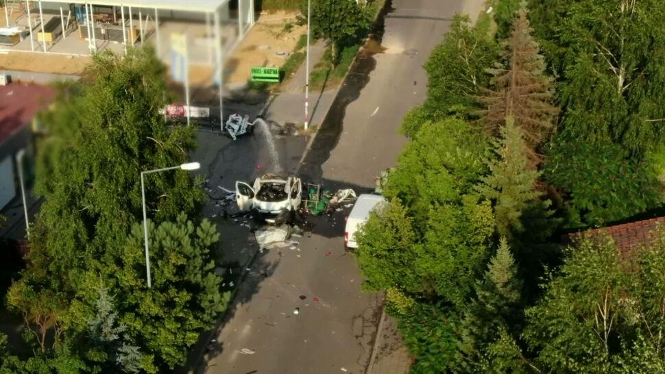 W Częstochowie wybuchł samochód z butlami gazowymi. Dwie osoby zginęły