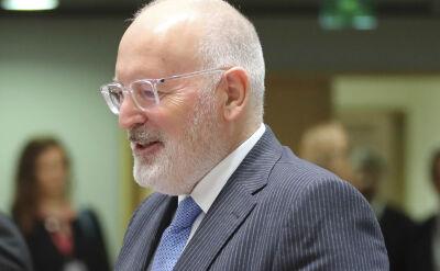 Frans Timmermans pyta o Sąd Najwyższy. Polska ma siedem dni na odpowiedź