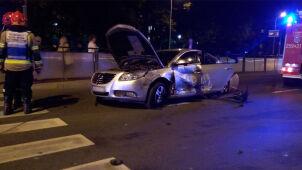 Radiowóz na sygnale zderzył się z autem
