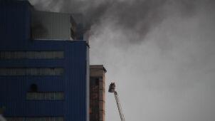 Pożar na terenie kopalni. 21 zastępów w akcji