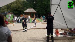 Osy zagnieździły się na nowym placu zabaw. Akcja strażaków