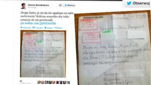Gronkiewicz-Waltz tweetuje do Zuzi