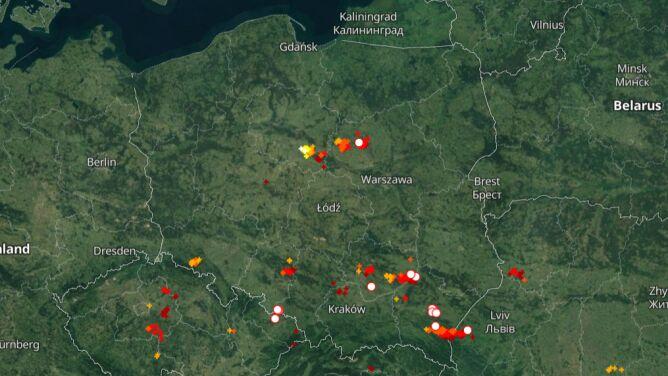 Grzmi w kilku regionach. <br />Sprawdź, gdzie jest burza