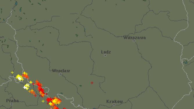 Upał nad Polską przyniósł burze. Sprawdź, gdzie grzmiało