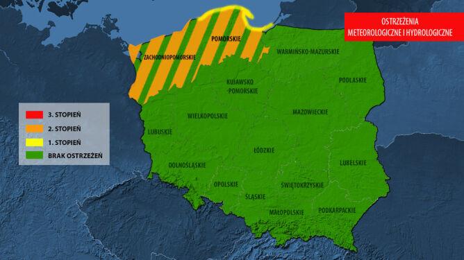 IMGW wydał ostrzeżenia meteorologiczne i hydrologiczne