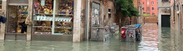 """Pani Beata przedziera się przez zalaną Wenecję. """"Nie wystarczą już tylko krótkie kalosze"""""""