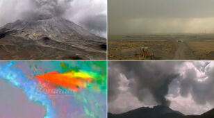 Kolumna dymu na 5 kilometrów. Erupcja wulkanu Ubinas