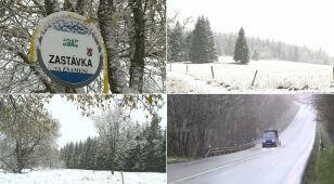 W Czechach spadł śnieg. Kolejki w warsztatach samochodowych